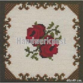 kreuzstichkissen rode rozen