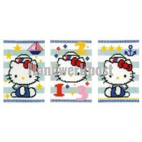 stickpackung glückwunschkarte (3 st.) hello kitty