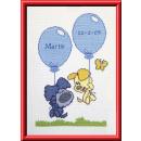 stickpackung woezel&pip, geb. ballonnen (incl. blauw/rose garn)