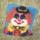 knüpfkissen clown (excl. knüpfhaken)