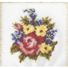 knüpfkissen bloemboeket (excl. knüpfhaken)