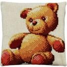 kreuzstichkissen teddybeer