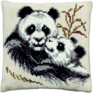 kreuzstichkissen panda met jong