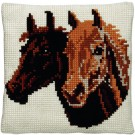 kreuzstichkissen paardenhoofden