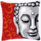 kreuzstichkissen boeddha