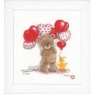 stickpackung popcorn bear, valentijnballonnen