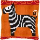 kreuzstichkissen zebra