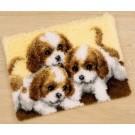 knüpfdecke drie puppies