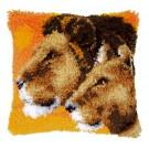 knüpfkissen leeuwen