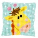 kreuzstichkissen baby jungle, giraffe