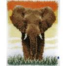 knüpfdecke olifant op de savanne