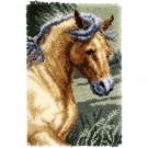 knüpfdecke paard in draf