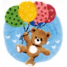 knüpfdecke beer met ballonnen