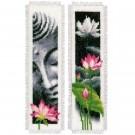 stickpackung lesezeichen (2 st.) boedha en lotusbloemen