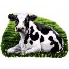 knüpfdecke rustende koe in de wei