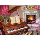 stramin pianoscene met rozen