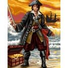 stramin + garnpaket, piraat in actie