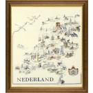stickpackung kaart van nederland