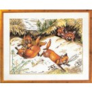 stickpackung spelende vosjes